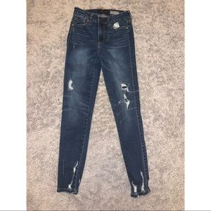 Aeropostale dark wash ripped jeans